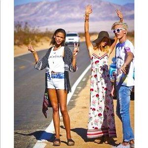 H& M Coachella floral maxi EUC
